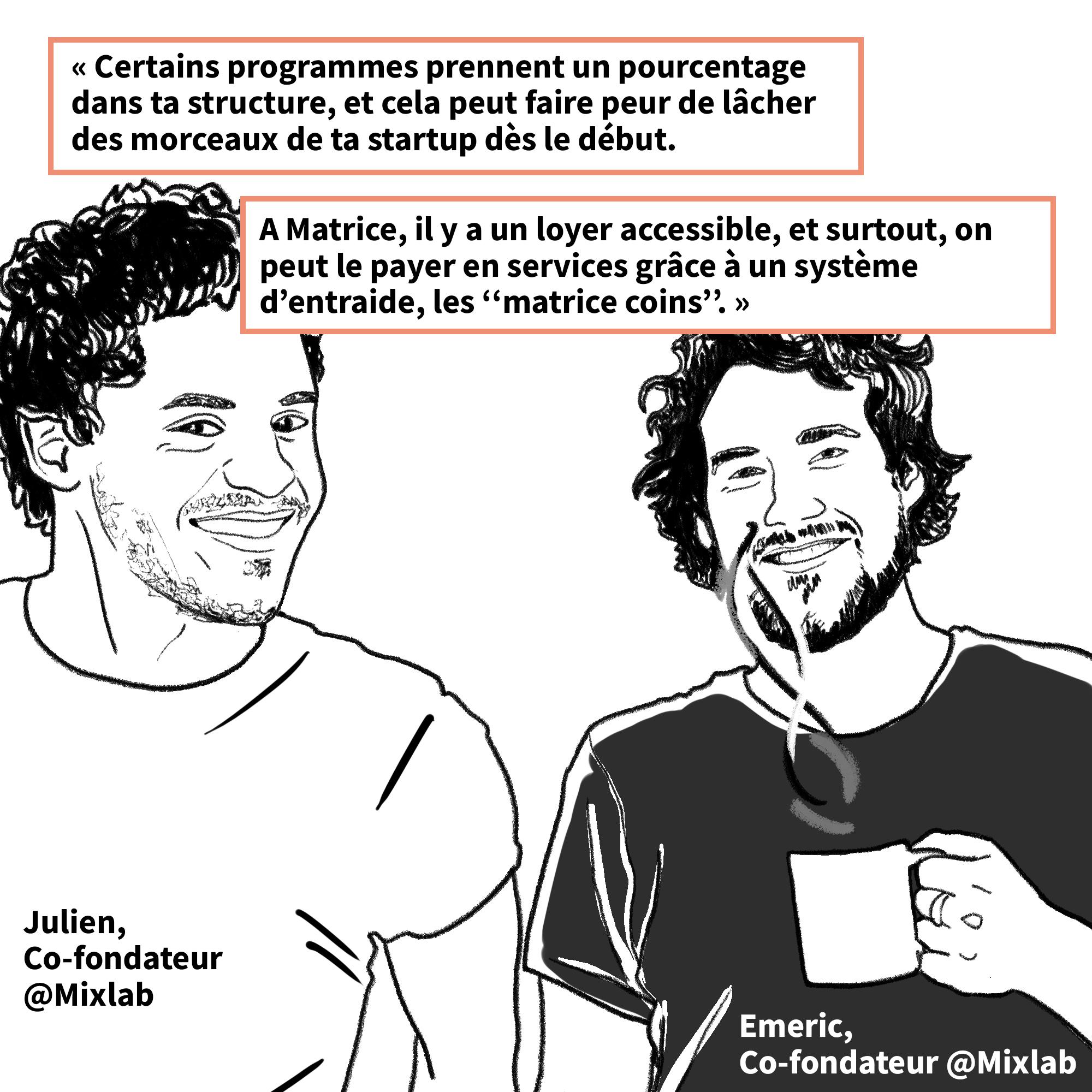 Julien Birch et Emeric Spiroux de la startup Mixlab
