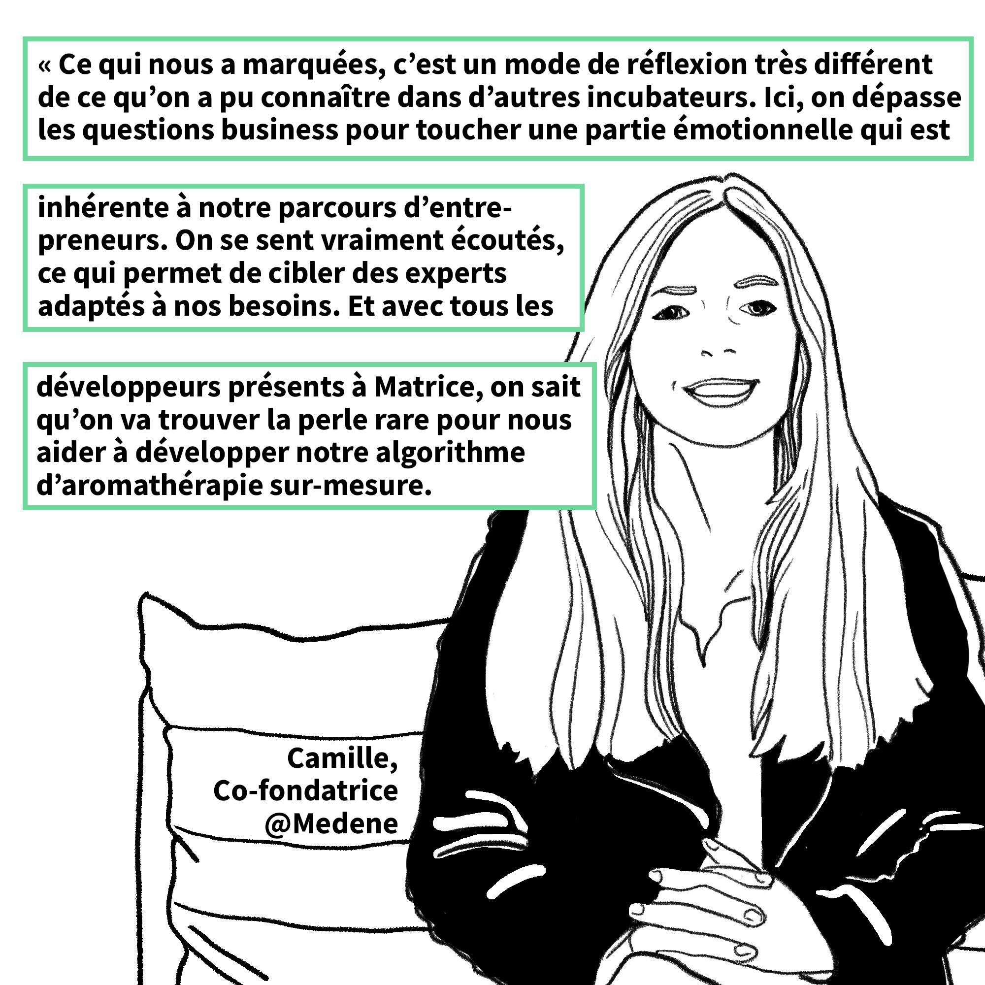 Camille Pereira de la startup Medene