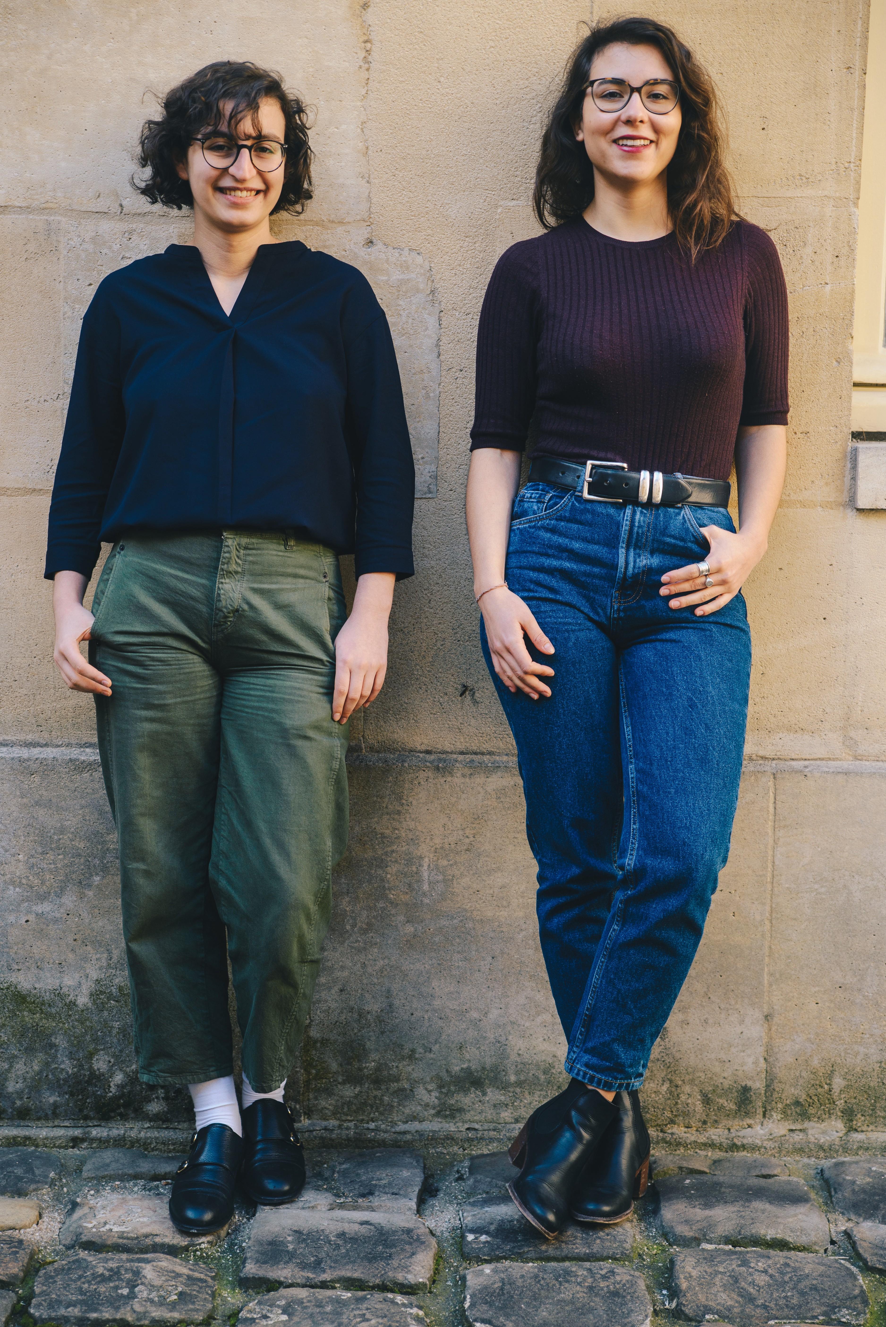 Marine Depery et Louise Geday-Volait studio samedi