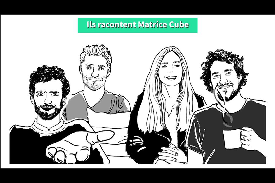 Les startups de Matrice Cube Illustration
