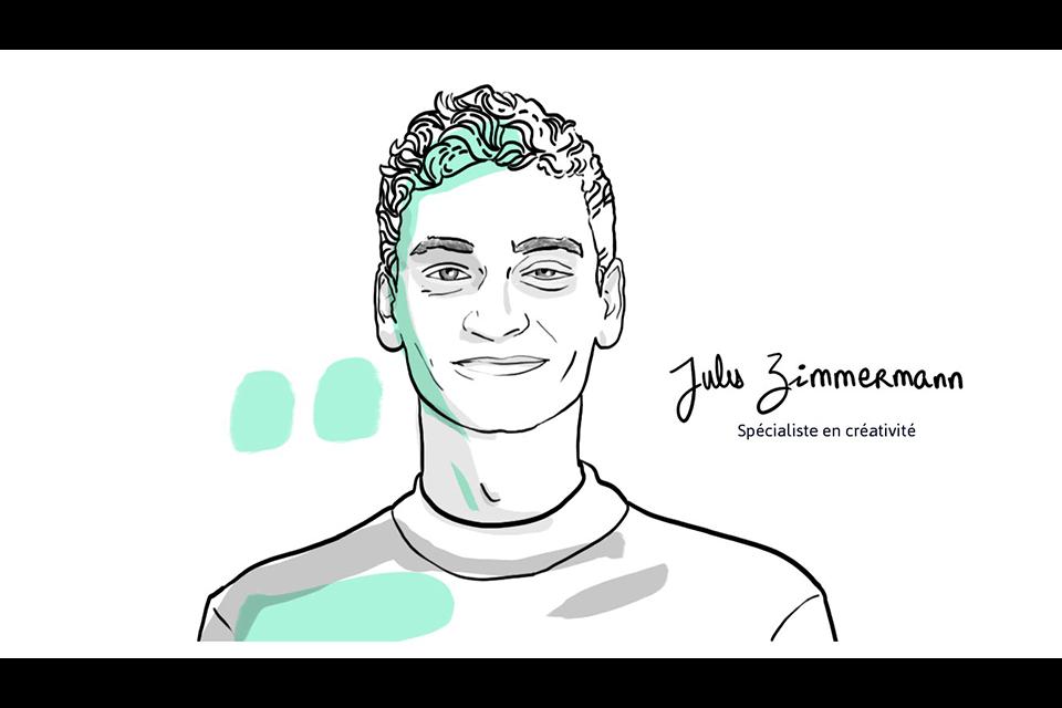 Jules Zimmermann Spécialiste en créativité Illustration